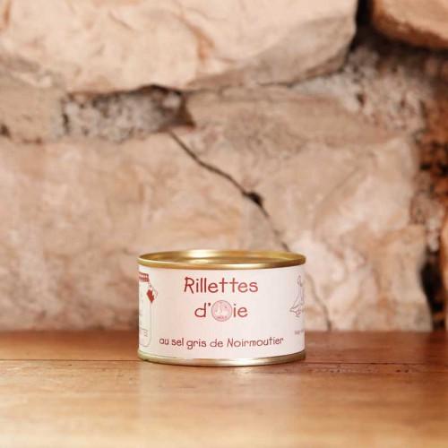 Rillettes pur oie en conserve de 190g pour 4 personnes - Les Bouriettes