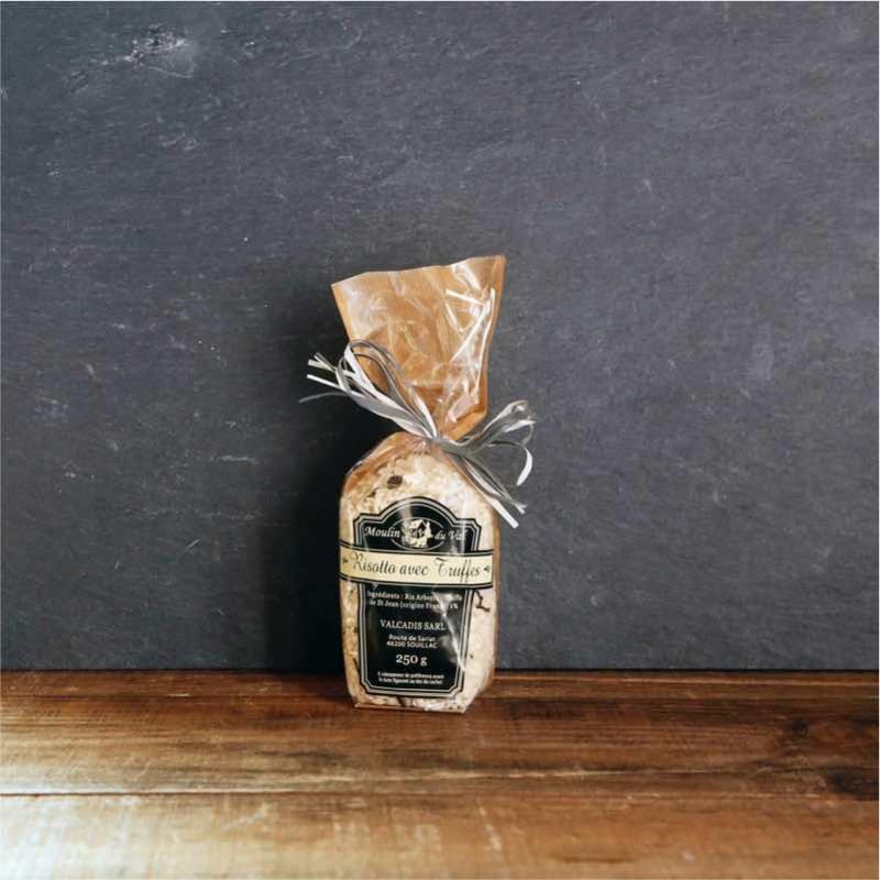 Sachet de 250g de riz à risotto aux truffes de St Jean pour 4 personnes - Moulin du Val - Les Bouriettes