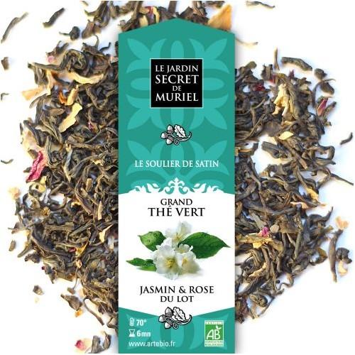 Grand thé vert au Jasmin et à la rose du Lot